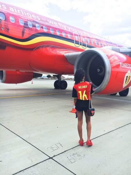 Une grosse carlingue ! On parle évidemment de l'avion aux couleurs de la Belgique.