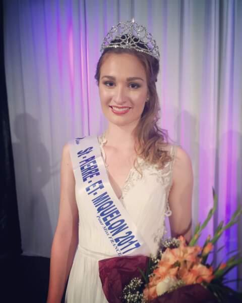 Héloïse Urtizbéréa (18 ans), Miss Saint-Pierre-et-Miquelon, élue à Saint-Pierre le 7 juillet 2017