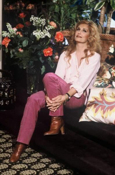 Dalida au festival de Monte Carlo en 1981.