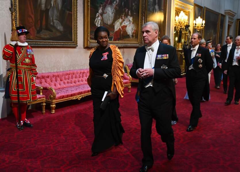 Le prince Andrew, fils cadet de la reine était bien sûr convié