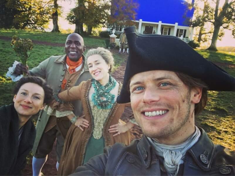 L'équipe d'Outlander en mode selfie !