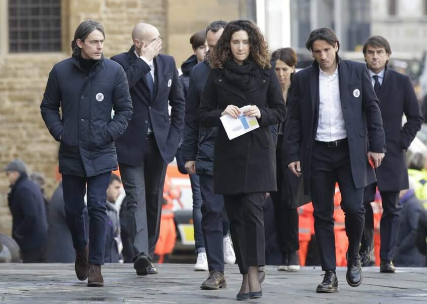 Pippo Inzaghi est venu accompagné d'une délégation du club de Venise qu'il entraîne