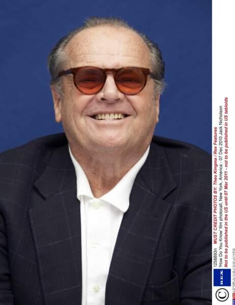 """Jack Nicholson, inoubliable dans le film """"Shining"""""""