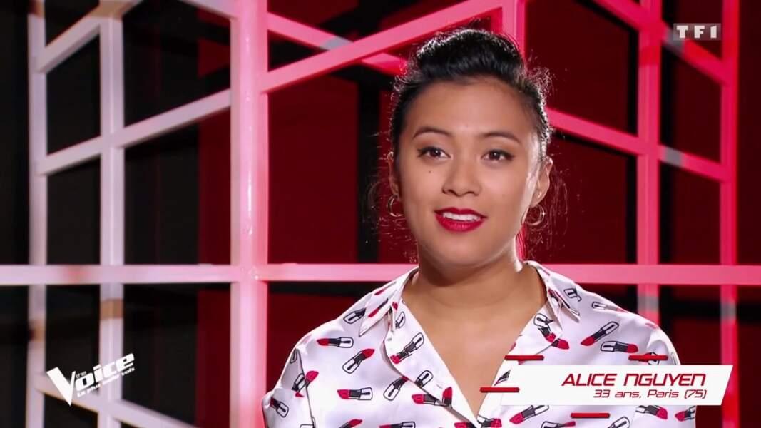 Alice Nguyen, 33 ans, est dans l'équipe de Florent Pagny