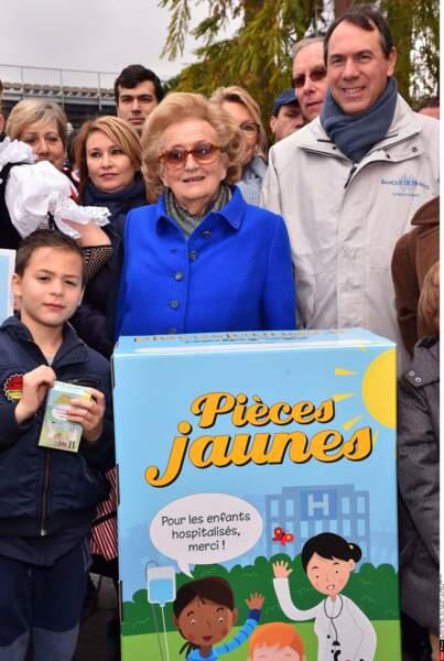 Depuis 1990, Bernadette s'est investie dans son opération Pièces Jaunes
