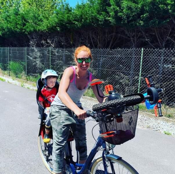 Bixente, le fils de Natasha St-Pier, était CRE-VÉ après cette balade à vélo.