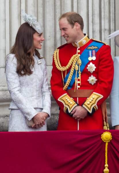 Le beau William qui a ensuite retrouvé sa duchesse sur le balcon royal !