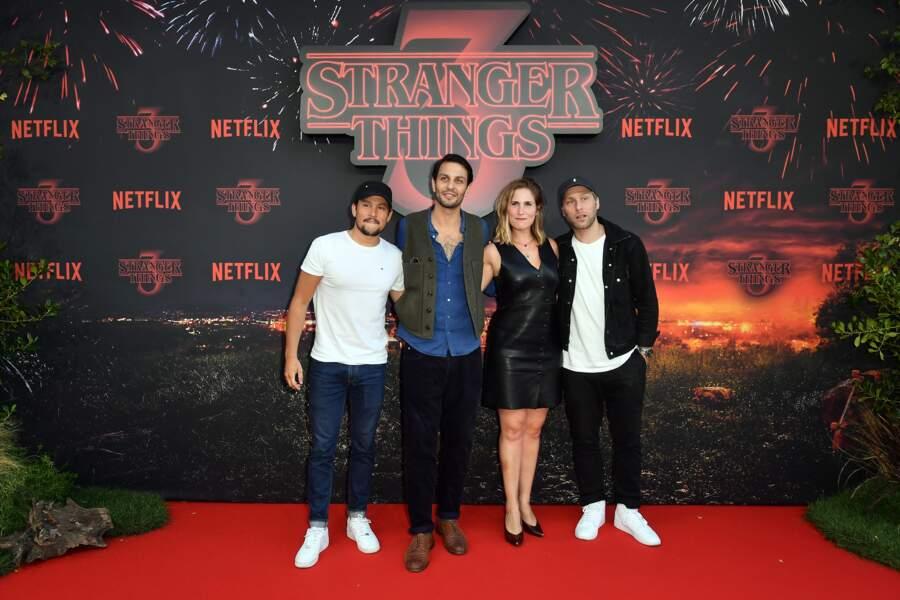Les acteurs de Plan Cœur, Yvan Naubron, Marc Ruchmann, Josephine Drai et Tom Dingler, étaient invités
