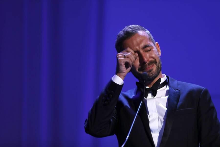 Sur scène, le Français a essuyé ses larmes