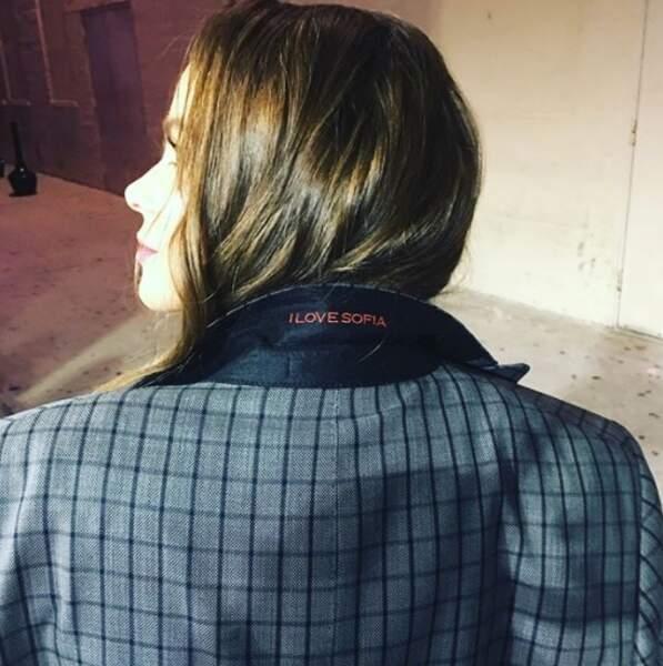 Et voici la veste de Joe Manganiello, cousu avec le prénom de sa femme dans le col, Sofia Vergara.