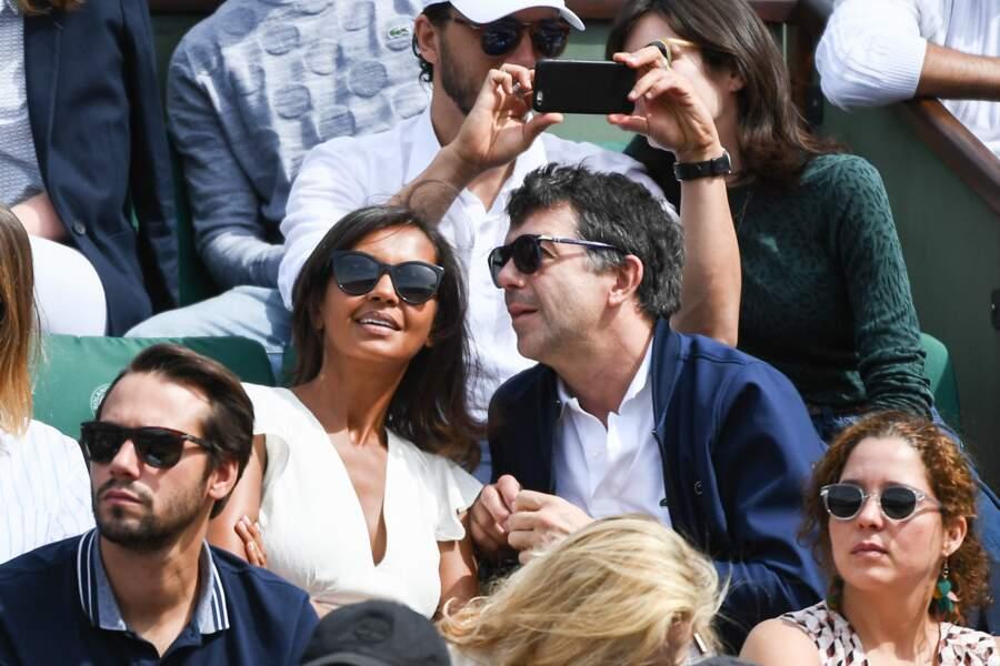 Il y avait du beau monde, comme Karine Le Marchand et Stéphane Plaza ce week-end de Pentecôte à Roland-Garros