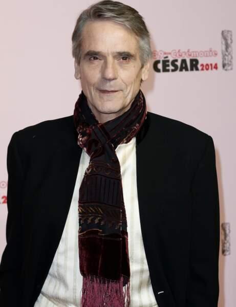 L'acteur anglais Jeremy Irons a remis le César de la meilleure actrice à Sandrine Kiberlin.