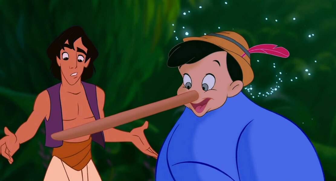 Aladdin : Le génie prend l'apparence de Pinocchio