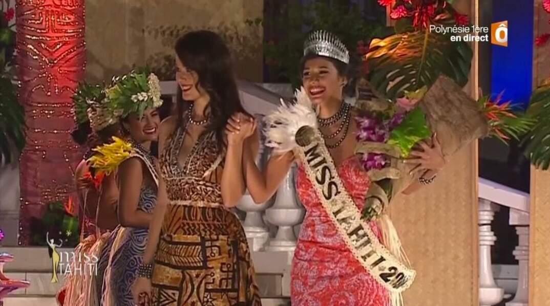 Turouru Temorere (21 ans), Miss Tahiti, élue à Papeete le 23 juin 2017