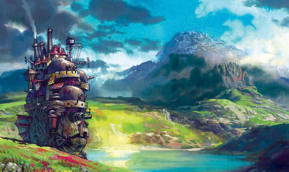 La château ambulant (2004) : Nouveau château, nouvel objet volant, nouveaux paysages...