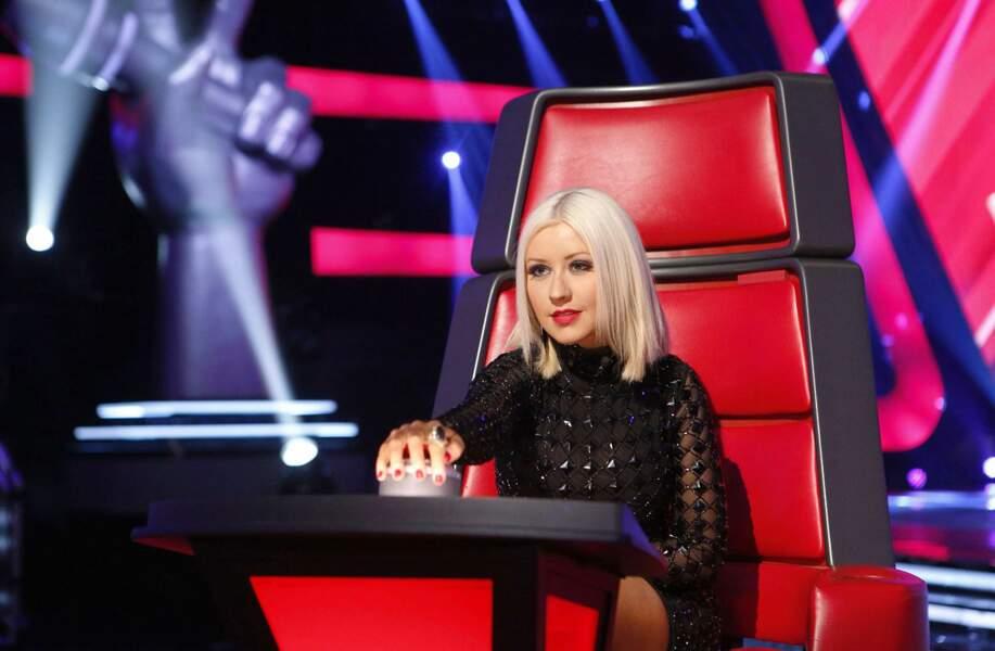Christina Aguilera, présente sur The Voice USA pour les saisons 1, 2, 3 et 5