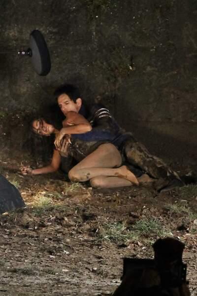 Penélope Cruz et Ben Stiller en plein tournage d'une scène d'amour...