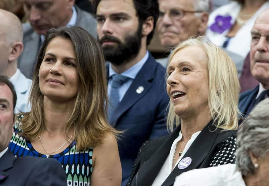 La légende Martina Navratilova était également dans la royal box