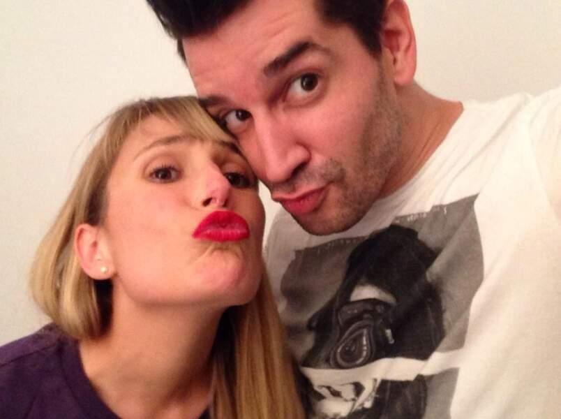 Un petit selfie de Mathieu Johann et Tina, elle aussi ex de la Star Ac 4....