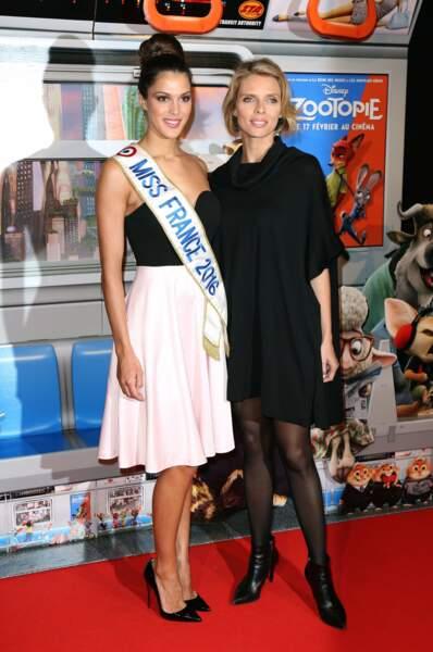 Miss France 2016 (Iris Mittenaere) et Sylvie Tellier s'accordent une petite soirée cinéma