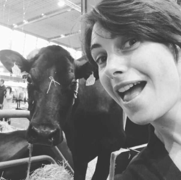 Alessandra Sublet s'est fait des contacts au Salon de l'Agriculture à Paris.