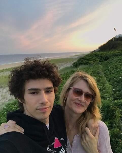 Laura Dern et son fils Ellery.