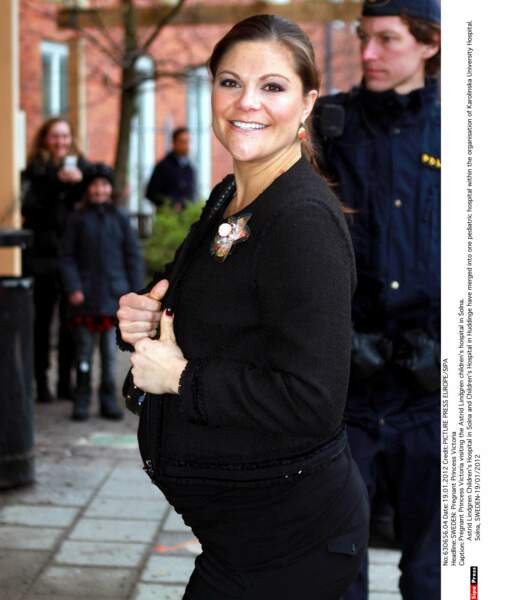 Fin janvier 2012, la princesse héritière Victoria est enceinte de 8 mois. Garçon ou fille ?