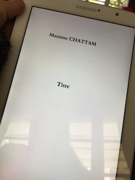 Et l'épouse de l'auteur de polars Maxime Chattam