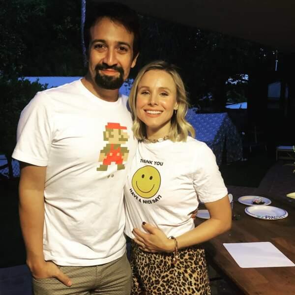 Kristen Bell a rencontré l'acteur Lin-Manuel Miranda et ça, ça lui donne la banane !