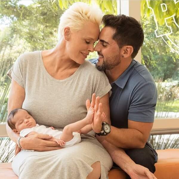 L'actrice danoise Brigitte Nielsen et son nouveau mari Mattia Dessi sont des parents heureux