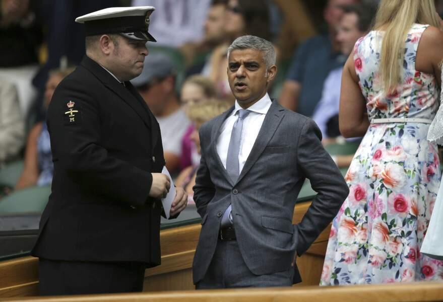 Le maire de Londres Sadiq Khan n'aurait raté le tournoi pour rien au monde