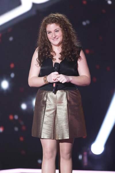 Juliette Moraine, 23 ans, talent de l'équipe de Florent Pagny