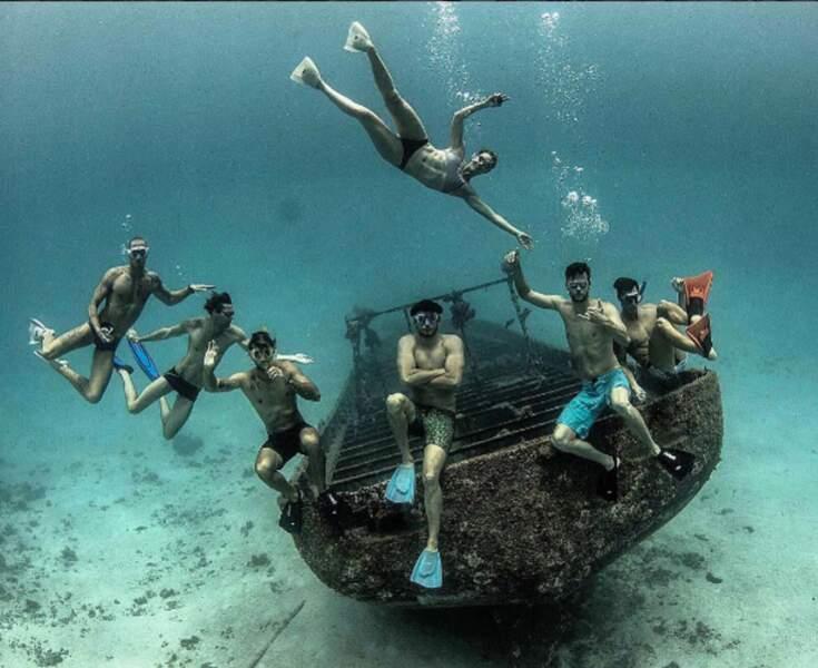 Les nageurs ont aussi pu explorer les fonds marins