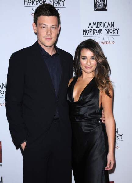 Lea Michele et Cory Monteith, décédé le 13 juillet 2013.