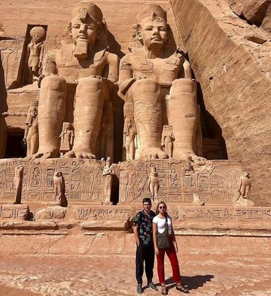 Et Chloé Jouannet et son amoureux ont découvert les trésors d'Abu Simbel.