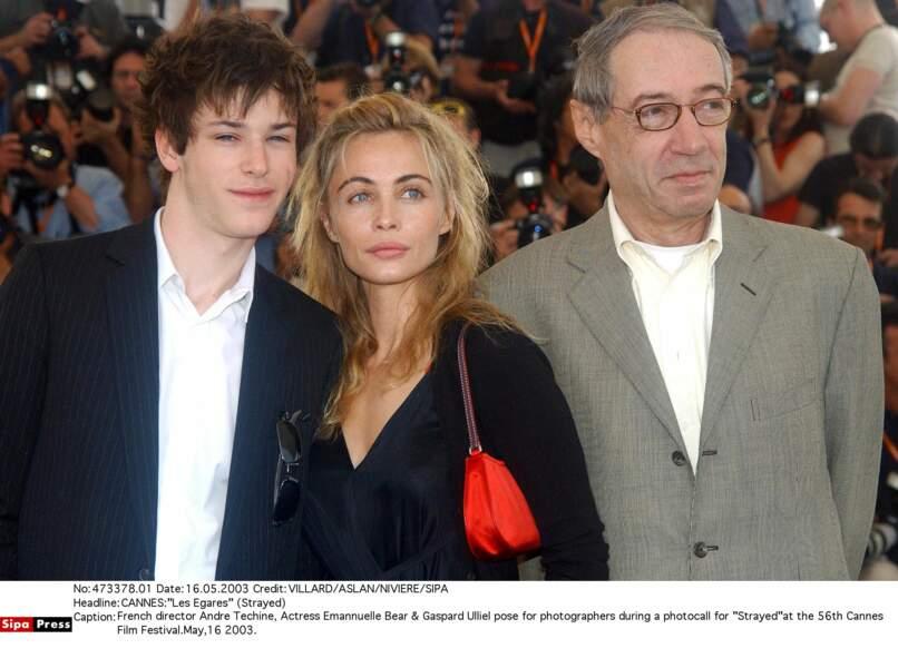 Qui l'emmène au Festival de Cannes avec André Techine et Emmanuelle Bear