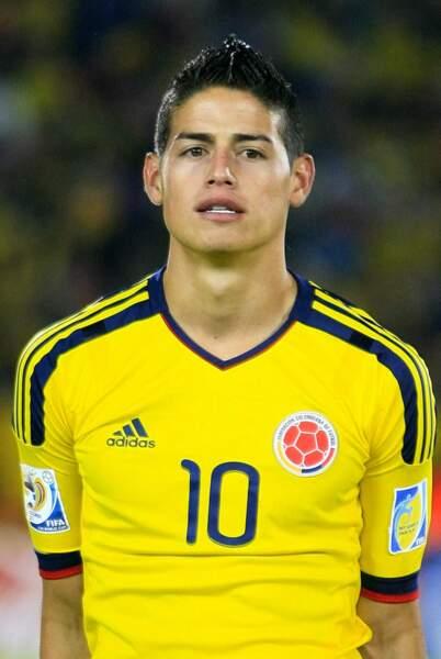 Le footballeur colombien James Rodriguez, 22 ans