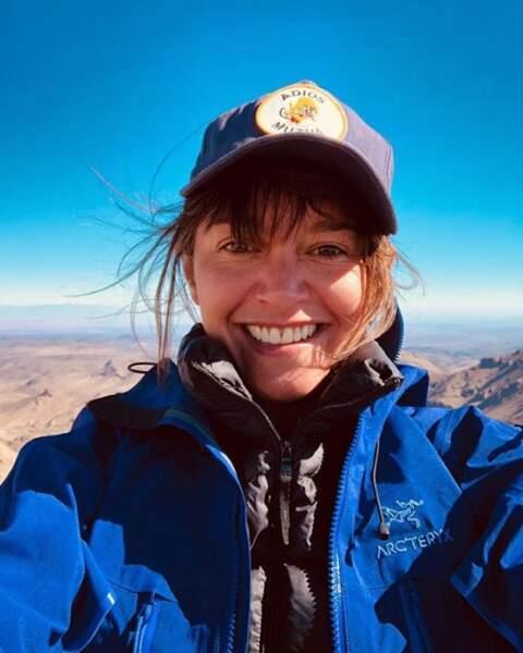En altitude elle aussi : Emma De Caunes au Maroc.