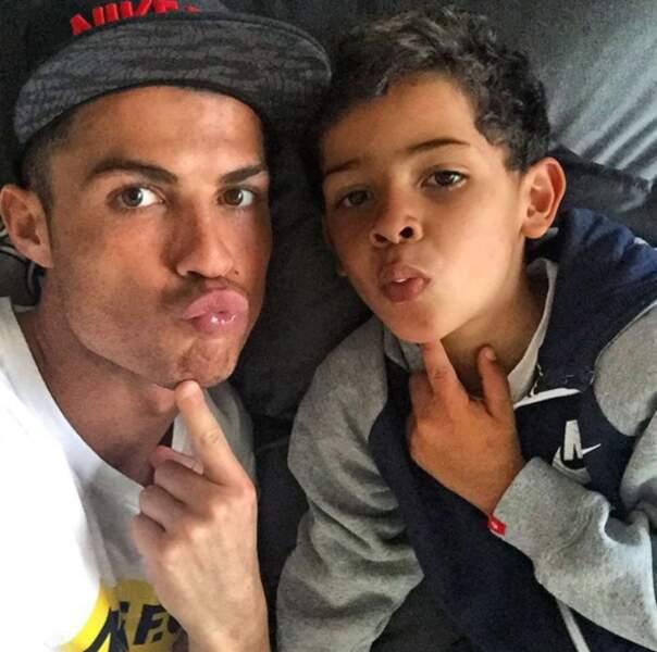 En tout cas, Cristiano Ronaldo Jr. a déjà tout de son papa !