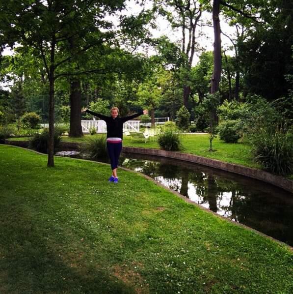 Pendant que Petra Kvitova trouve un endroit charmant pour s'entraîner