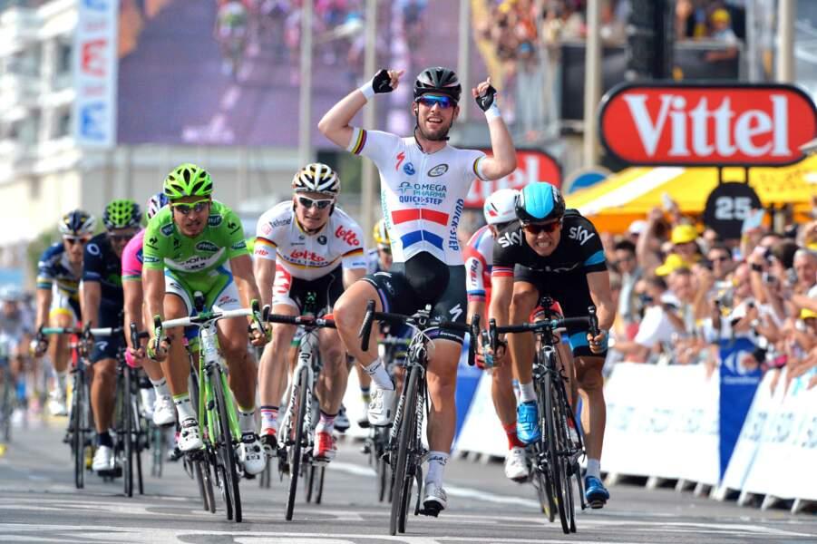 Mark Cavendish a ouvert son compteur de victoires à Marseille
