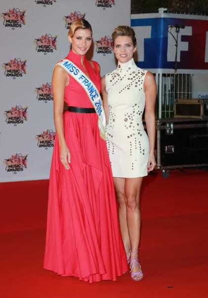 Camille Cerf et Sylvie Tellier aux NRJ Music Awards 2015