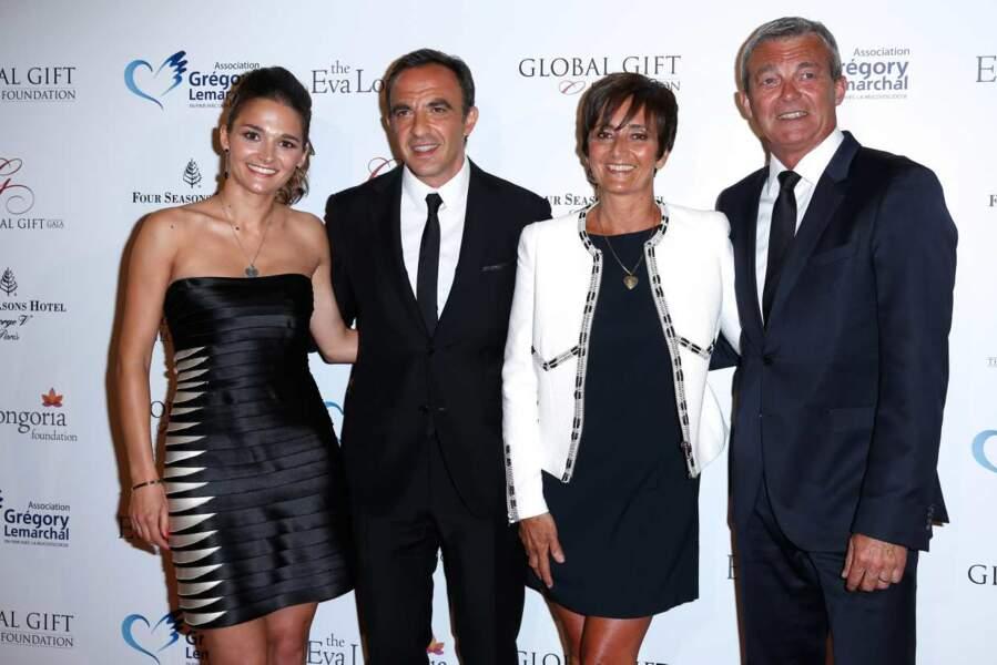Nikos a également posé avec la famille du regretté Grégory Lemarchal