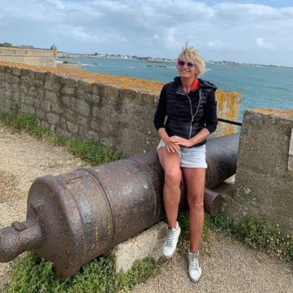 Ça soufflait un peu en Bretagne, n'est-ce pas Sophie Davant ?