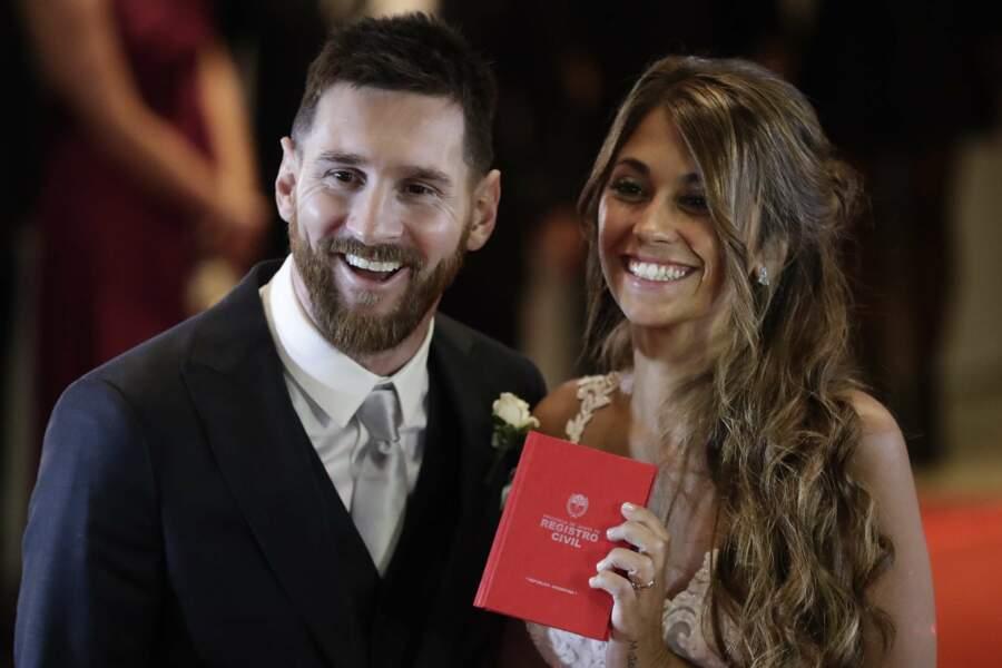 C'est officiel : Antonella et Lionel Messi sont désormais mariés à l'Etat civil