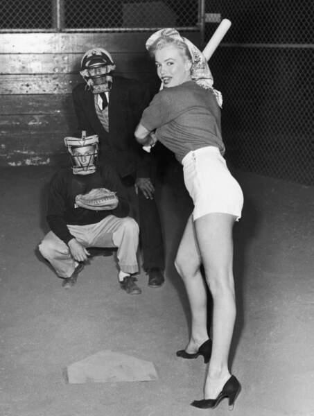 Marilyn, c'est aussi ça : la classe, même dans l'effort