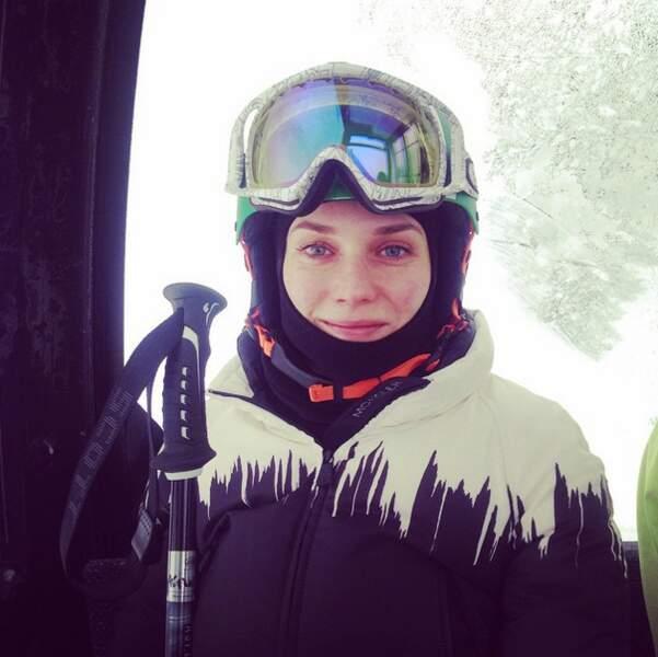 Tout schuss ! Diane est prête pour skier