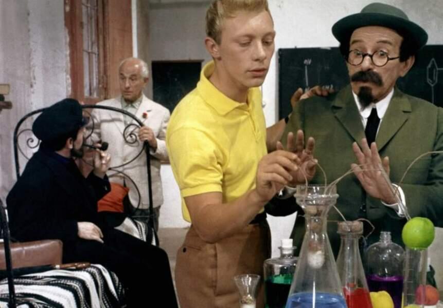 1964 : le même Jean-Pierre Talbot, avec la fameuse chemise jaune de Tintin