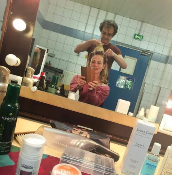 Séance coiffure pour Marie-France