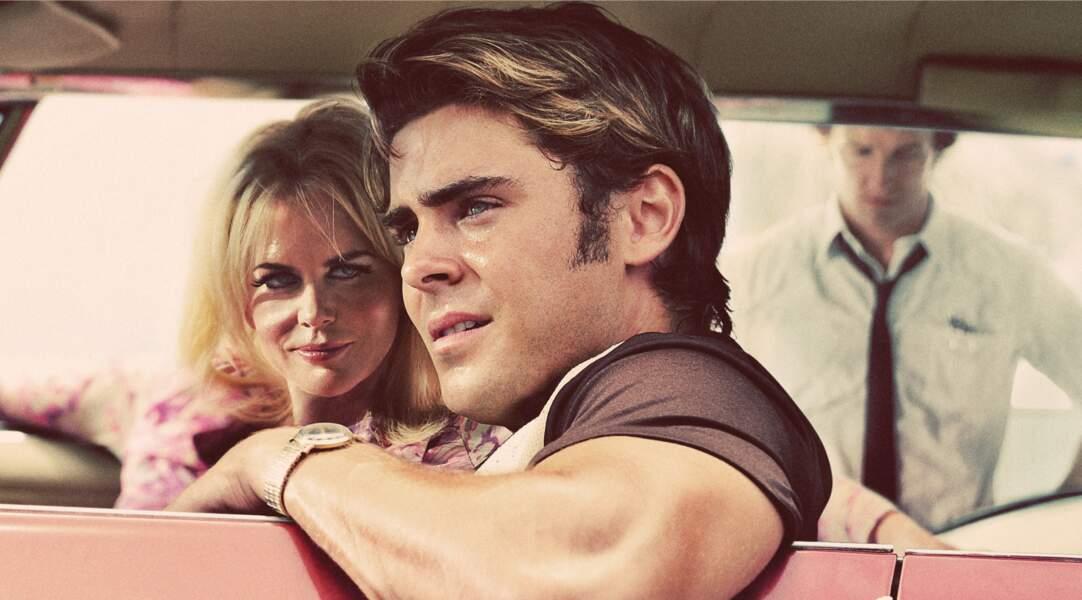 Moins lisse dans Paperboy (2012), Zac Efron casse son image dans ce film où Nicole Kidman lui donne la réplique.